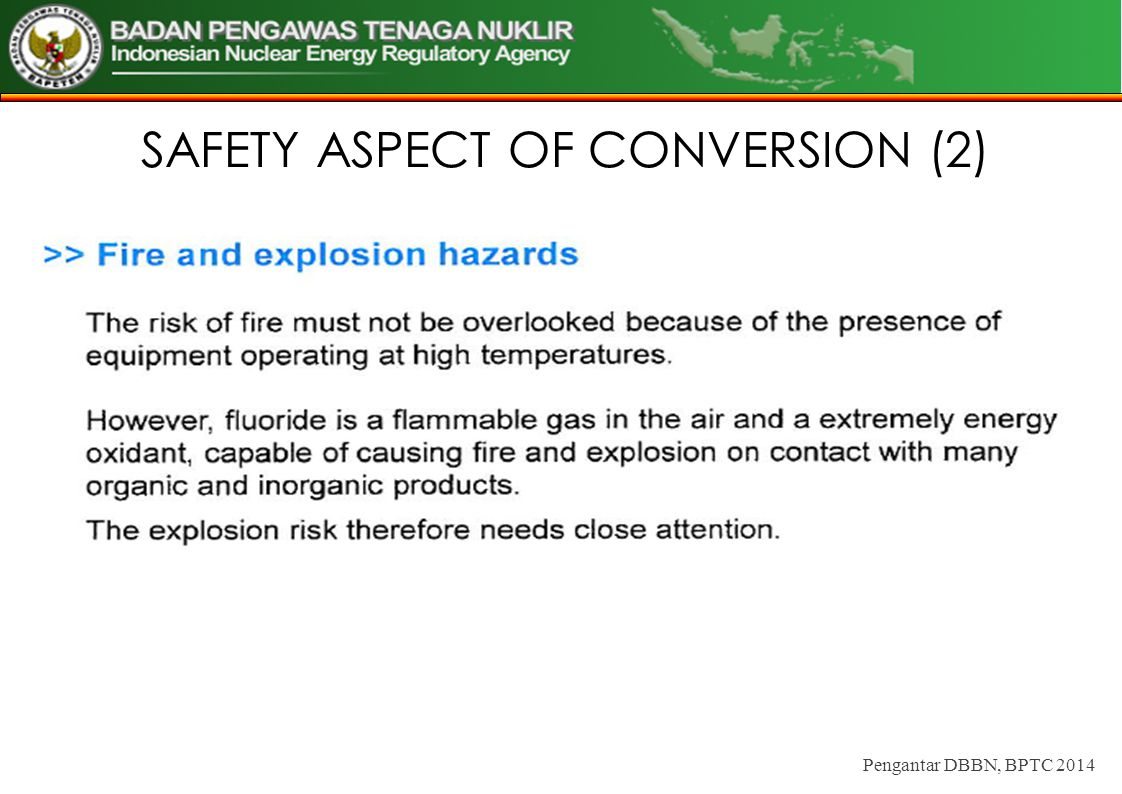 SAFETY ASPECT OF CONVERSION (2)