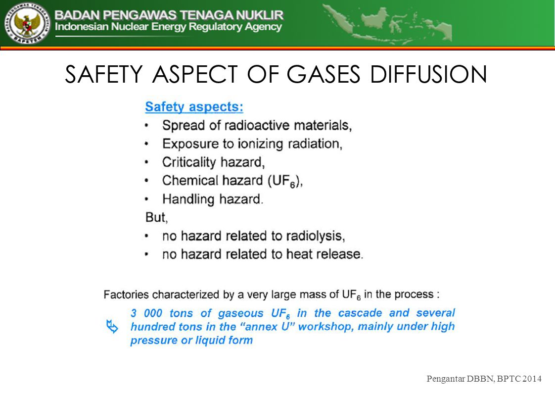 SAFETY ASPECT OF GASES DIFFUSION