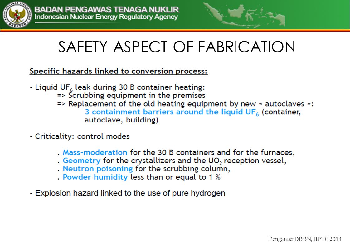 SAFETY ASPECT OF FABRICATION