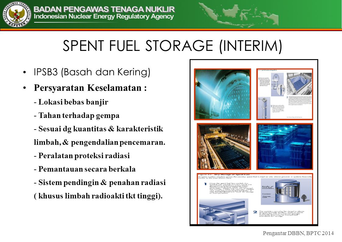 SPENT FUEL STORAGE (INTERIM)