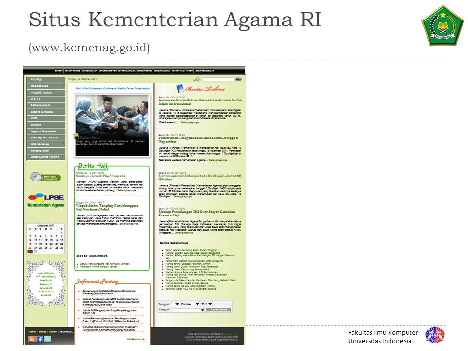 Situs Kementerian Agama RI (www.kemenag.go.id)