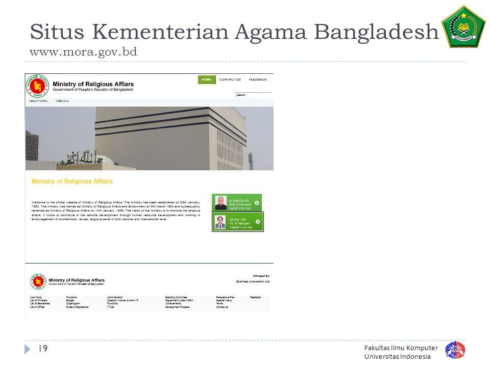 Situs Kementerian Agama Bangladesh www.mora.gov.bd