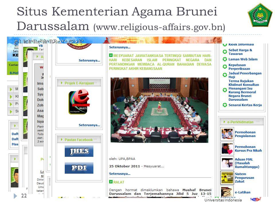 Situs Kementerian Agama Brunei Darussalam (www. religious-affairs. gov