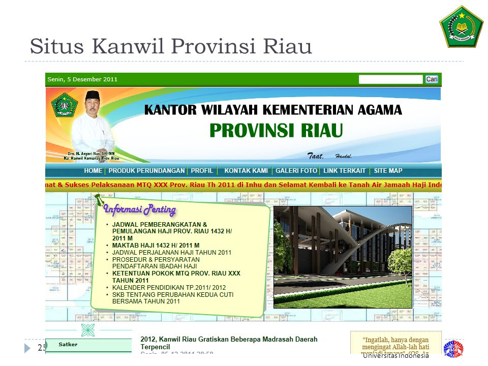 Situs Kanwil Provinsi Riau