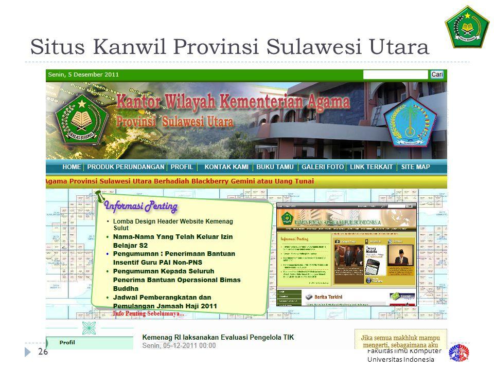 Situs Kanwil Provinsi Sulawesi Utara