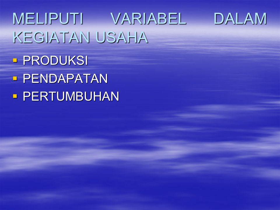 MELIPUTI VARIABEL DALAM KEGIATAN USAHA