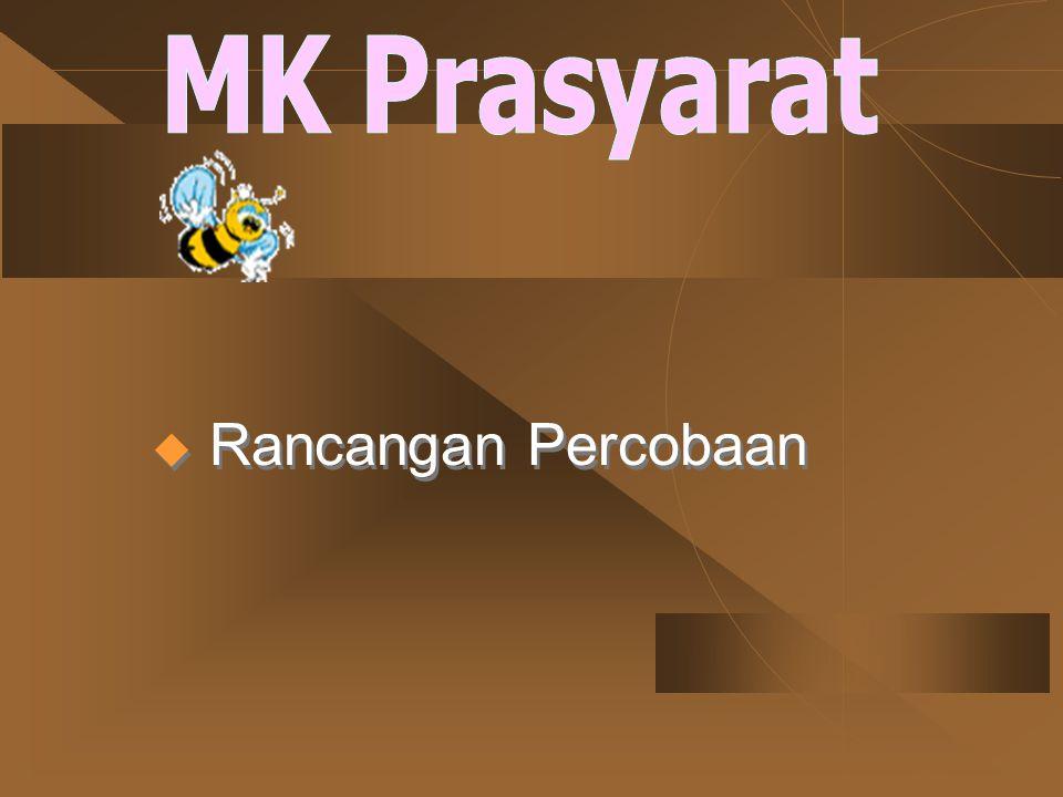 MK Prasyarat Rancangan Percobaan