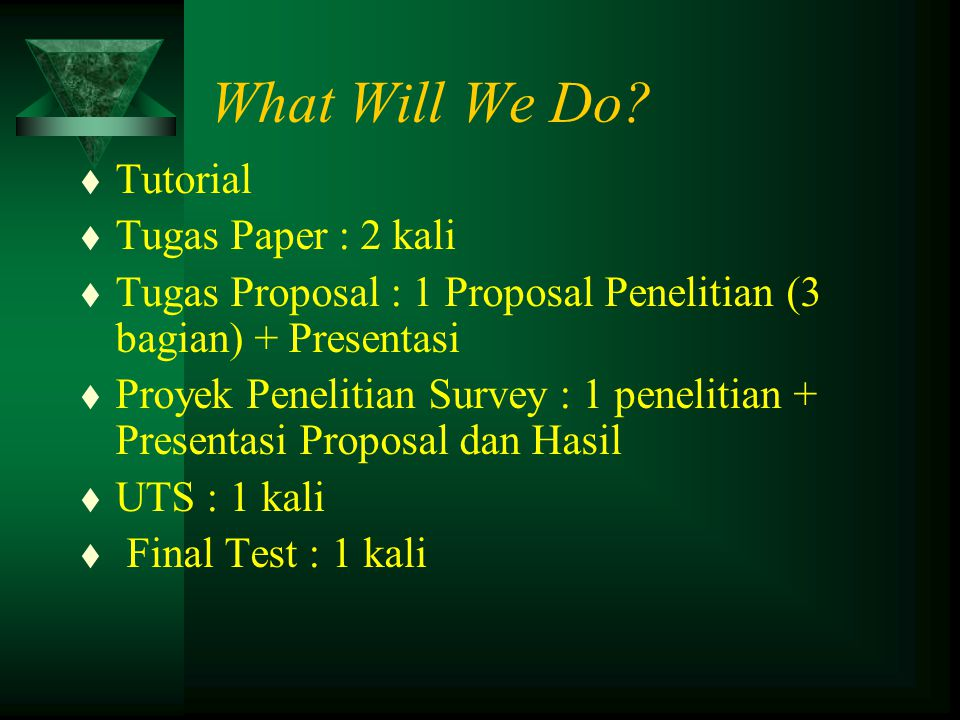 What Will We Do Tutorial Tugas Paper : 2 kali