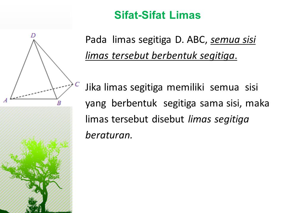 Sifat-Sifat Limas
