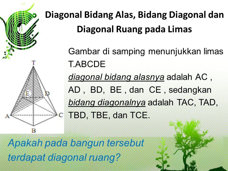 Diagonal Bidang Alas, Bidang Diagonal dan Diagonal Ruang pada Limas