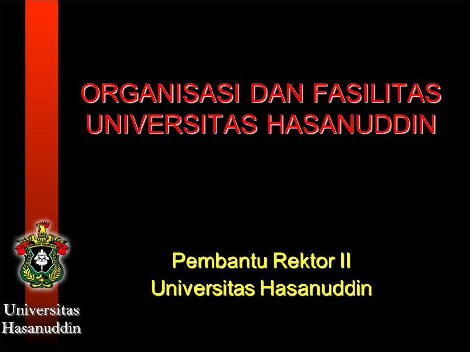 ORGANISASI DAN FASILITAS UNIVERSITAS HASANUDDIN