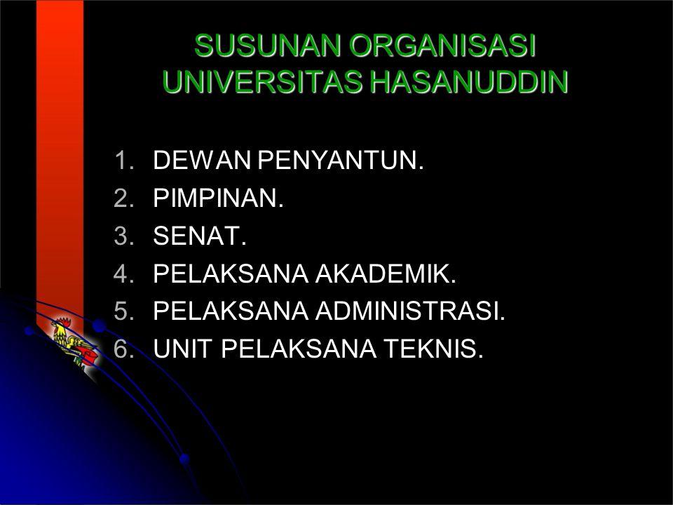 SUSUNAN ORGANISASI UNIVERSITAS HASANUDDIN
