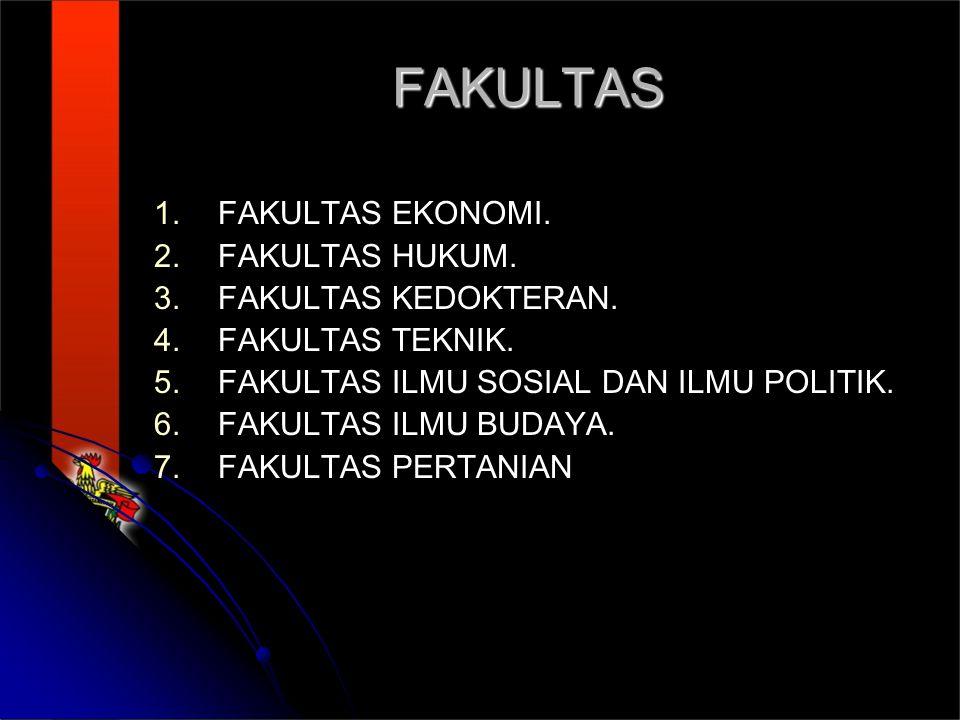 FAKULTAS FAKULTAS EKONOMI. FAKULTAS HUKUM. FAKULTAS KEDOKTERAN.