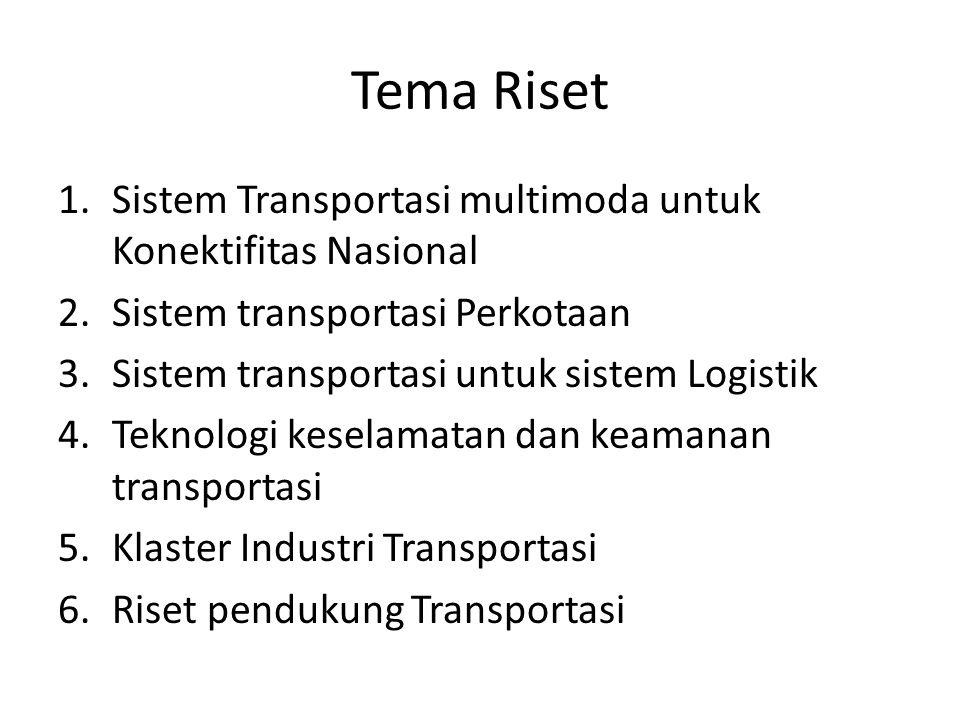 Tema Riset Sistem Transportasi multimoda untuk Konektifitas Nasional