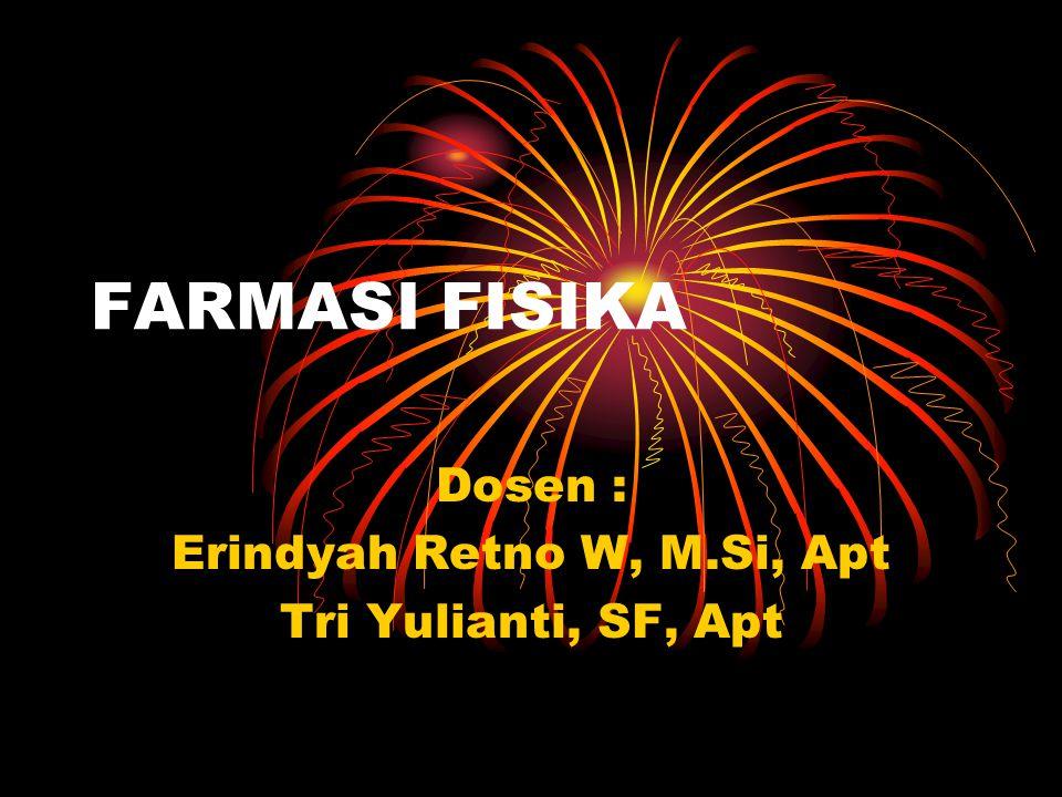 Dosen : Erindyah Retno W, M.Si, Apt Tri Yulianti, SF, Apt