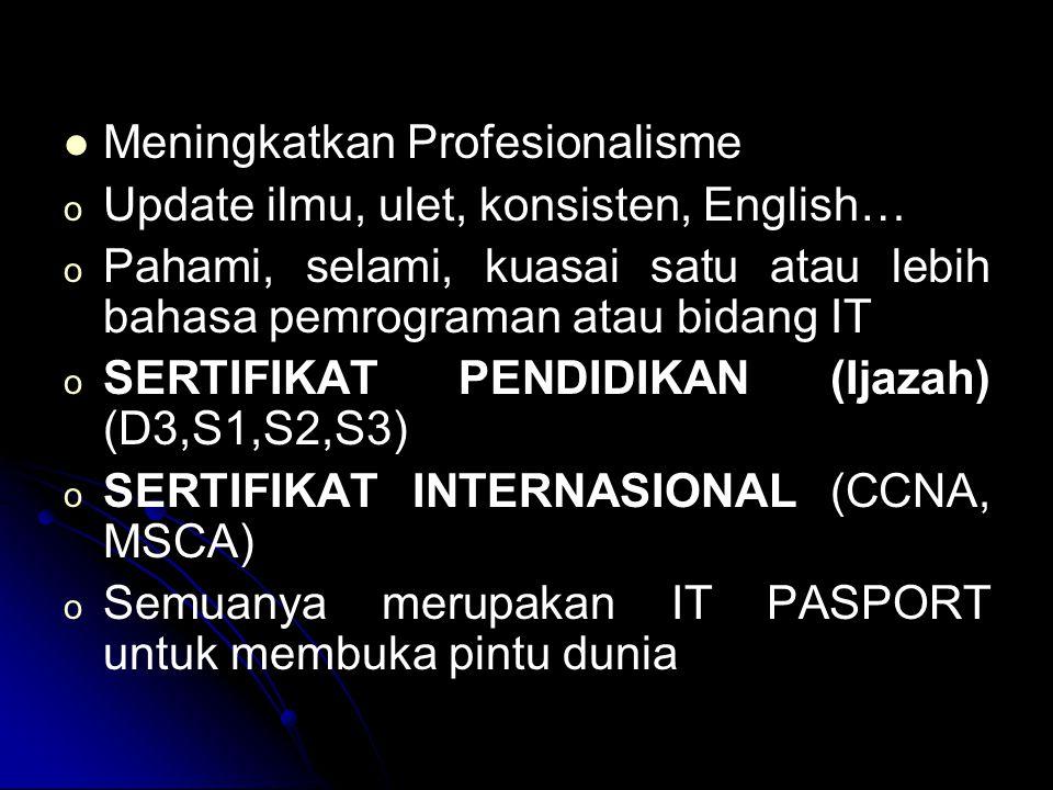 Meningkatkan Profesionalisme