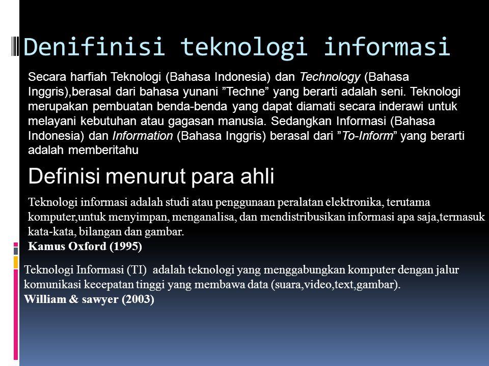 Denifinisi teknologi informasi