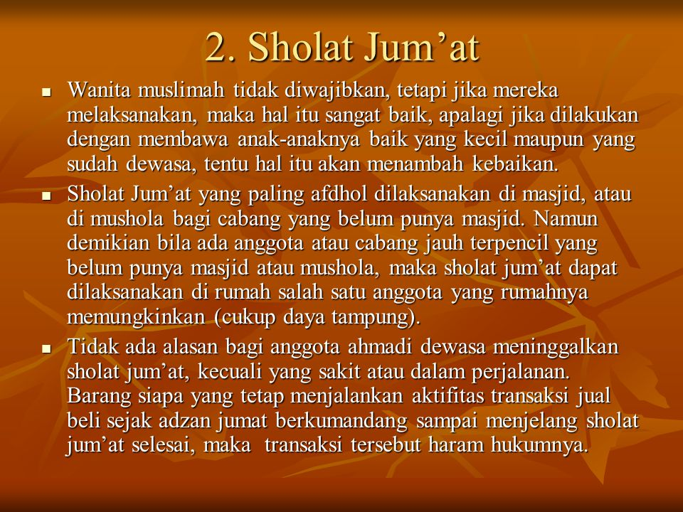 2. Sholat Jum'at
