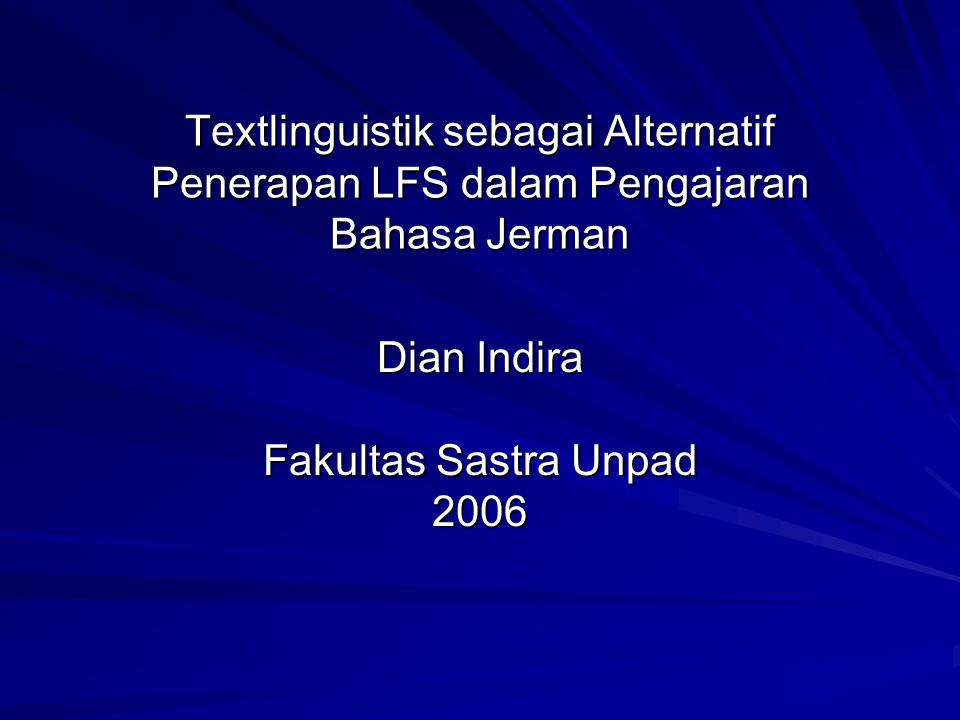 Dian Indira Fakultas Sastra Unpad 2006