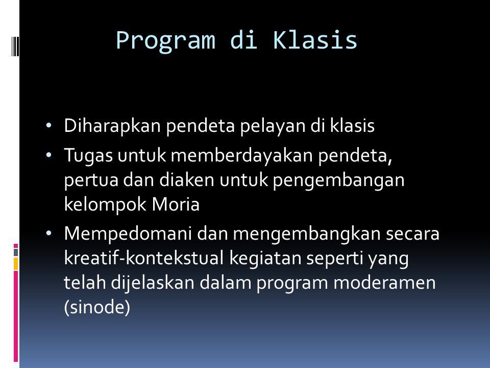 Program di Klasis Diharapkan pendeta pelayan di klasis