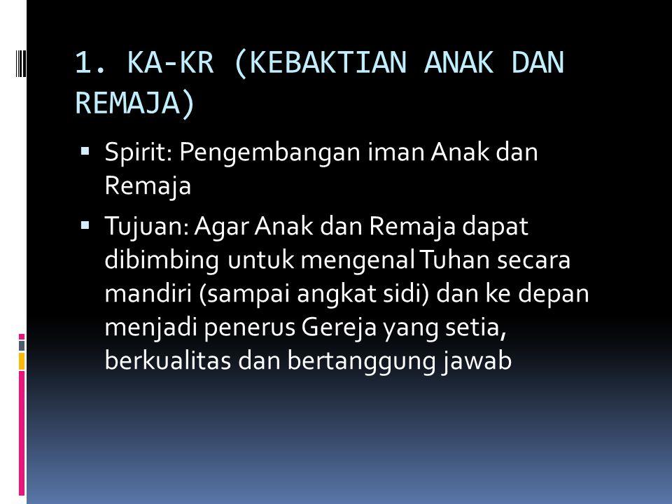 1. KA-KR (KEBAKTIAN ANAK DAN REMAJA)