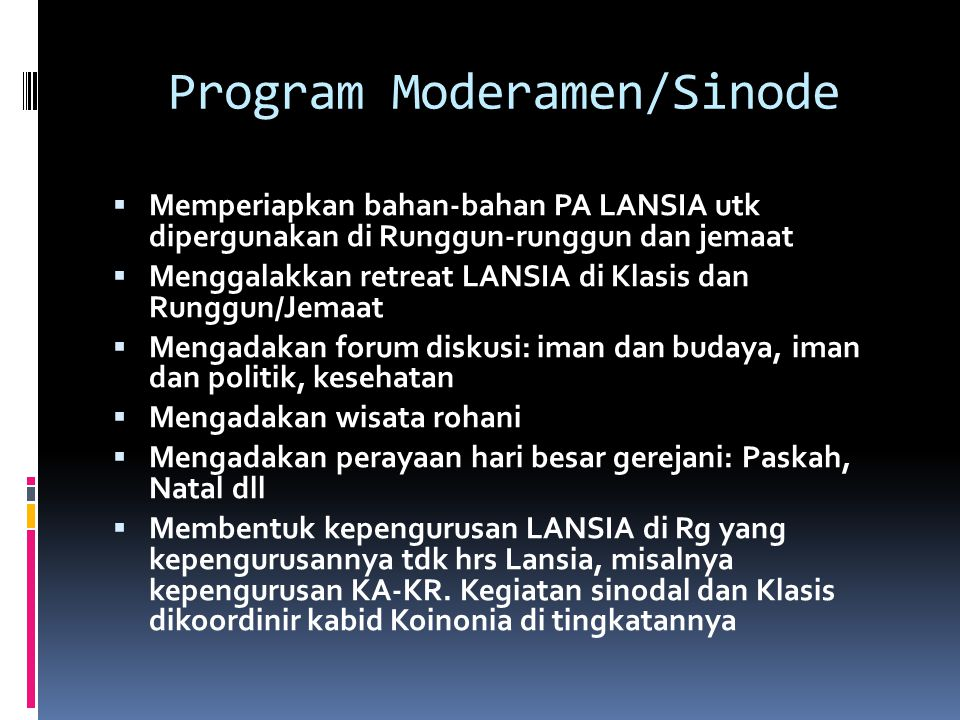 Program Moderamen/Sinode