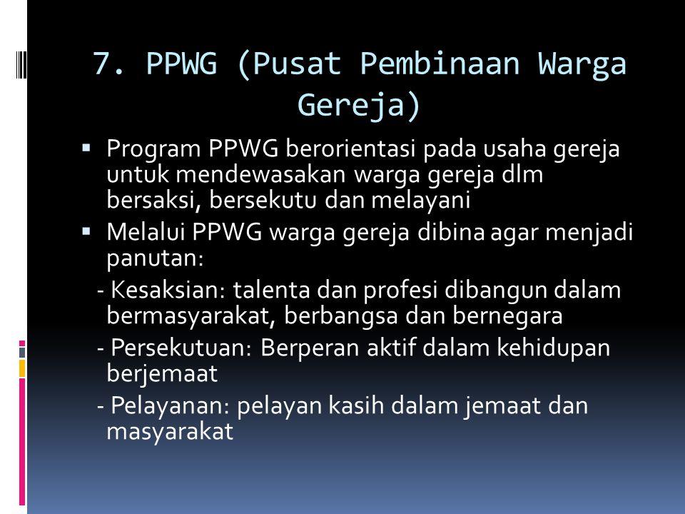 7. PPWG (Pusat Pembinaan Warga Gereja)