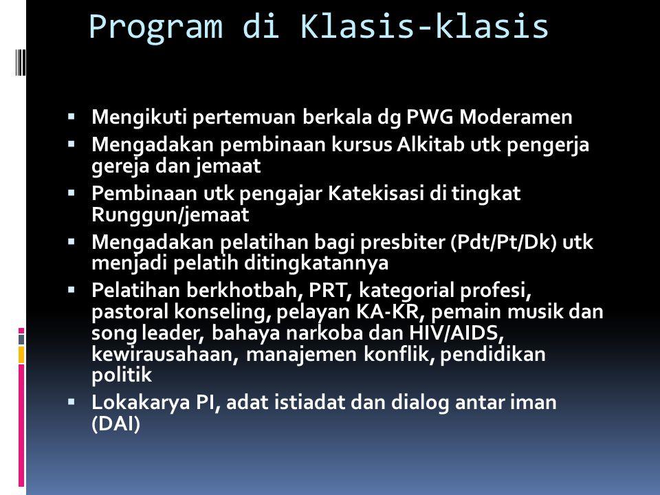 Program di Klasis-klasis