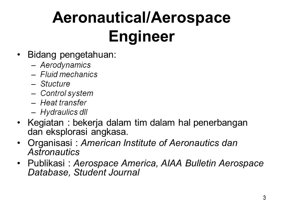 Aeronautical/Aerospace Engineer
