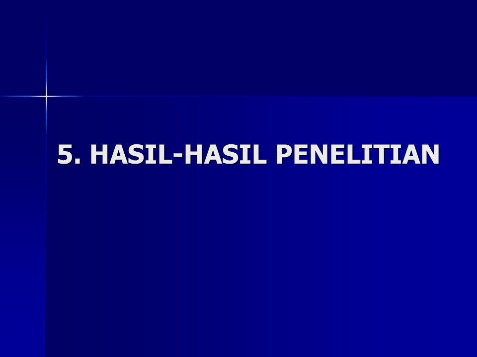 5. HASIL-HASIL PENELITIAN