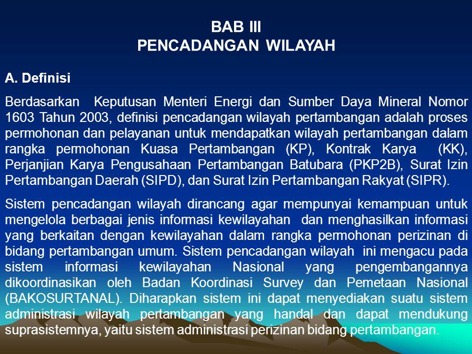 BAB III PENCADANGAN WILAYAH A. Definisi