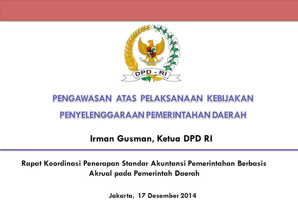 Irman Gusman, Ketua DPD RI