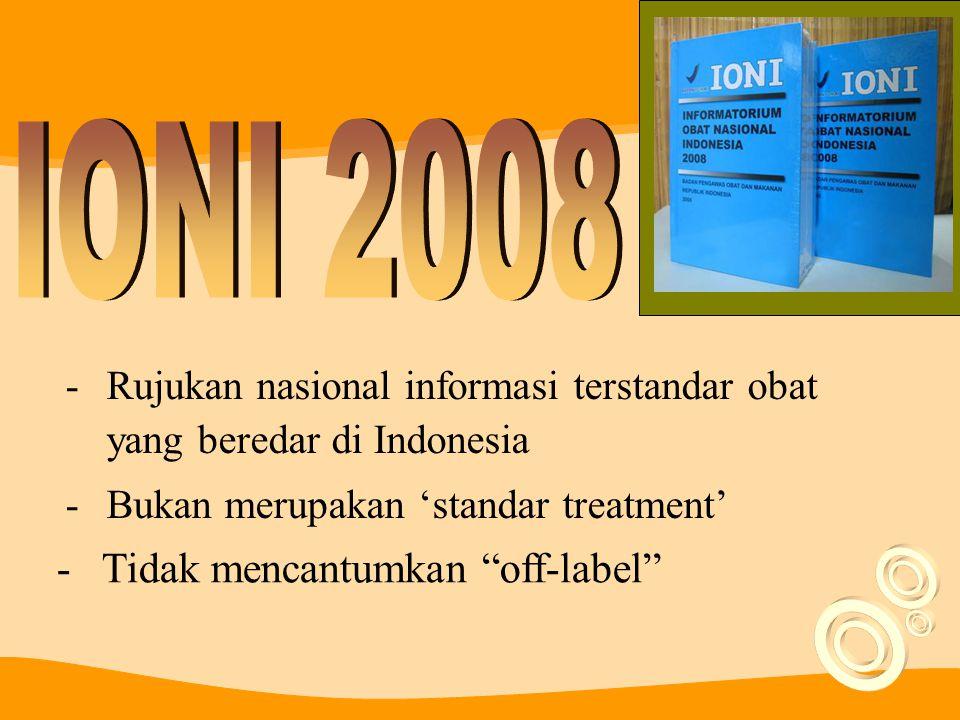 IONI 2008 Tidak mencantumkan off-label