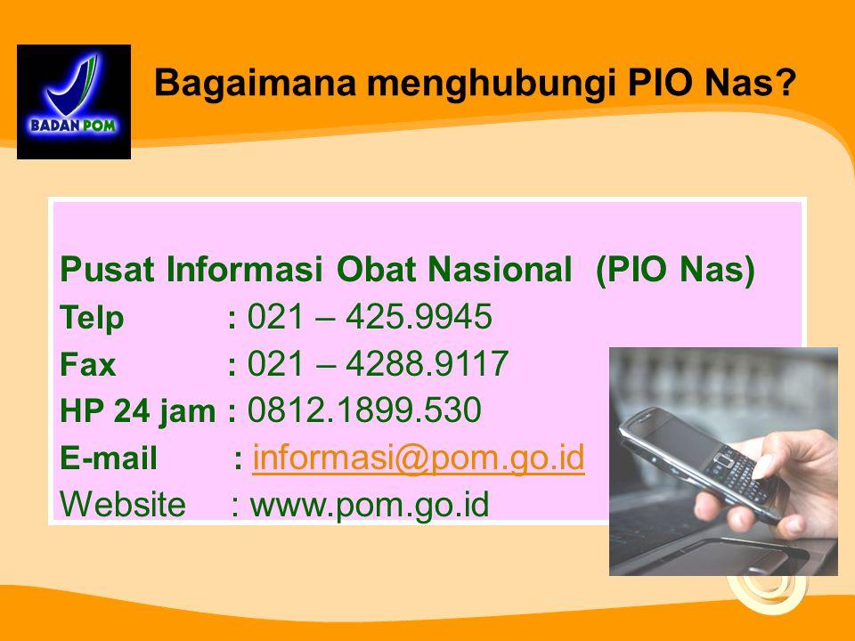 Bagaimana menghubungi PIO Nas