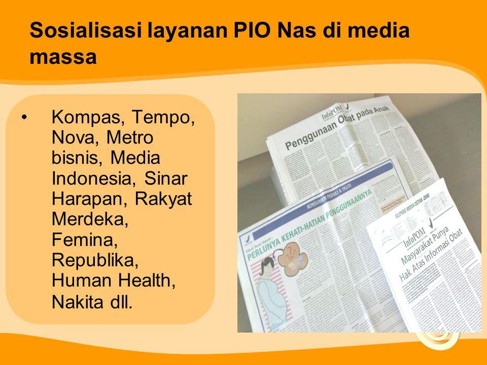 Sosialisasi layanan PIO Nas di media massa