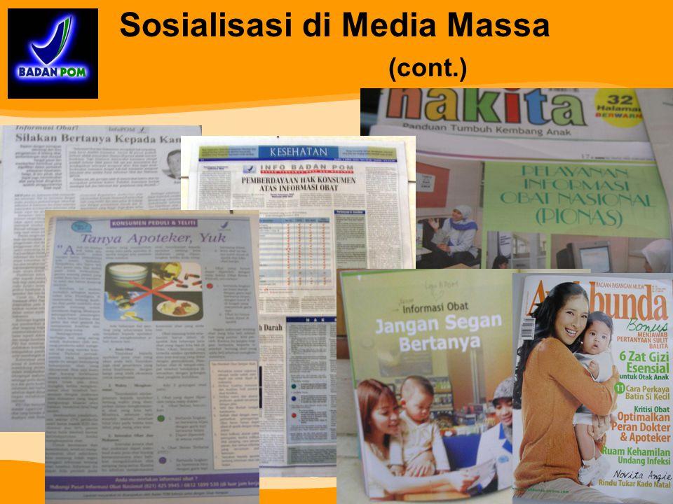 Sosialisasi di Media Massa