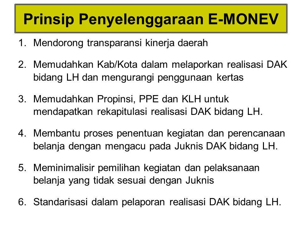 Prinsip Penyelenggaraan E-MONEV