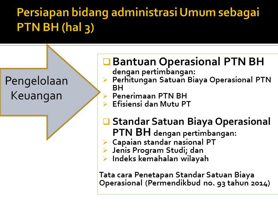 Persiapan bidang administrasi Umum sebagai PTN BH (hal 3)