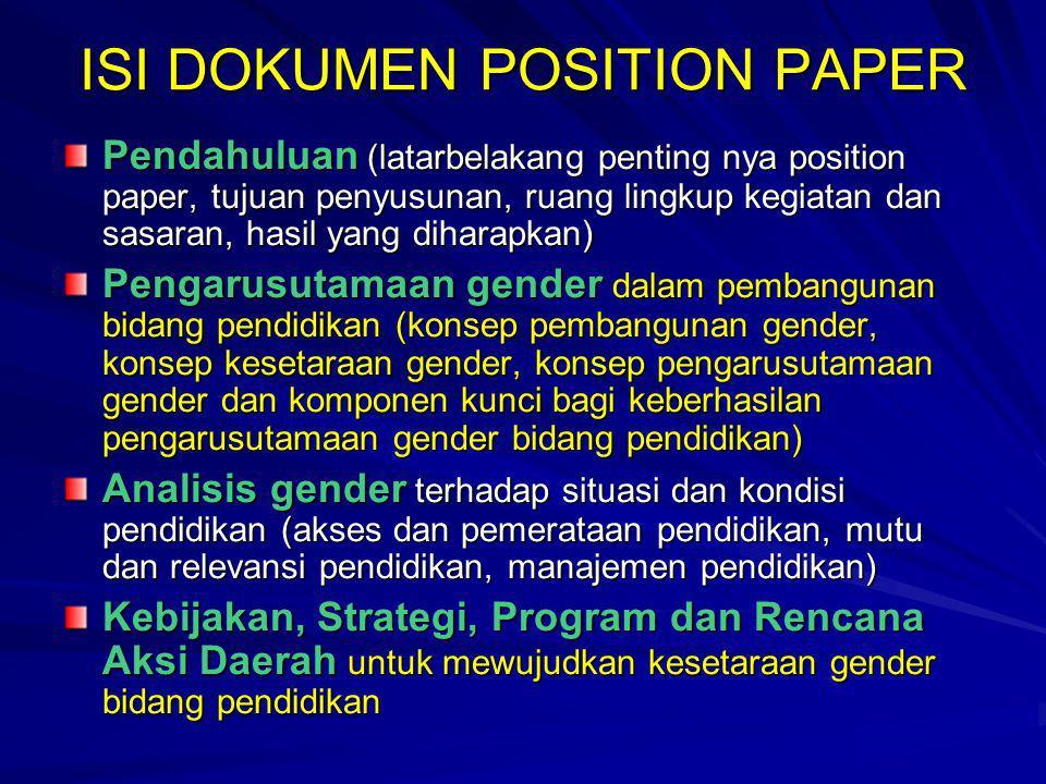 ISI DOKUMEN POSITION PAPER
