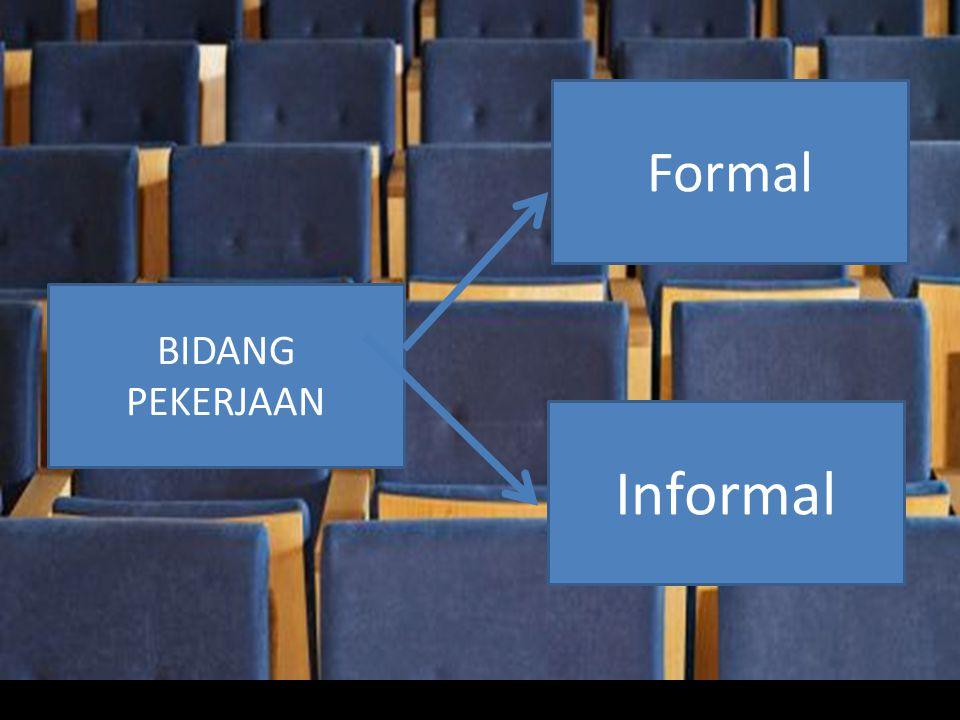 BIDANG PEKERJAAN Formal Informal