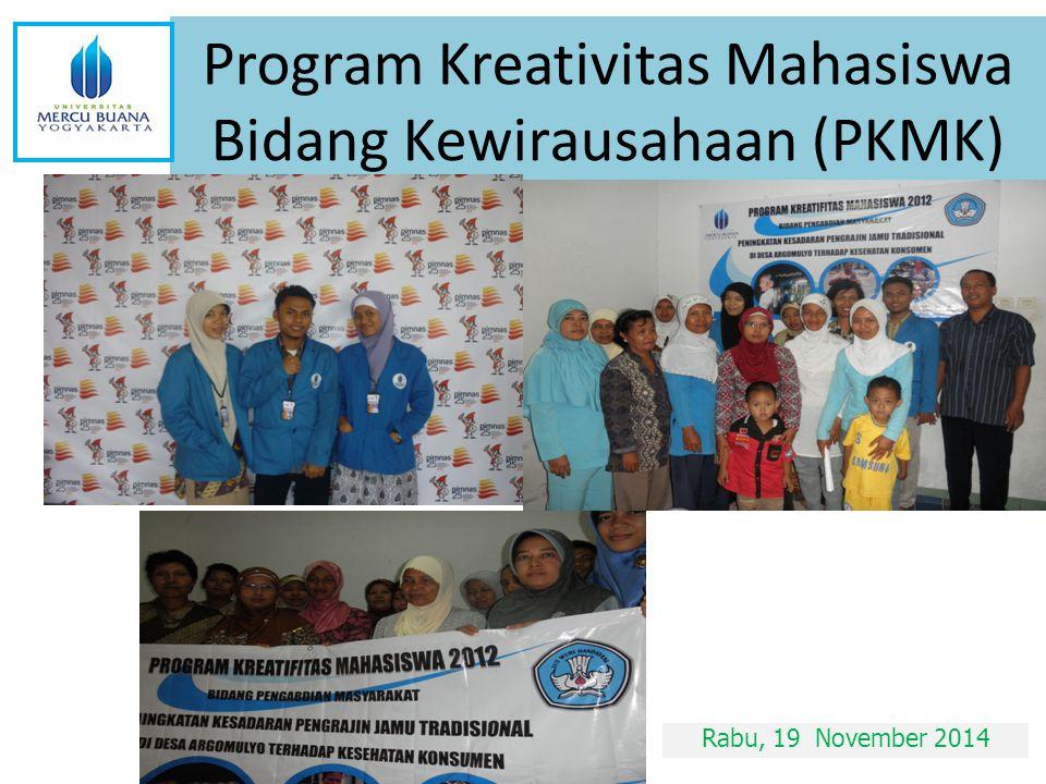 Program Kreativitas Mahasiswa Bidang Kewirausahaan (PKMK)