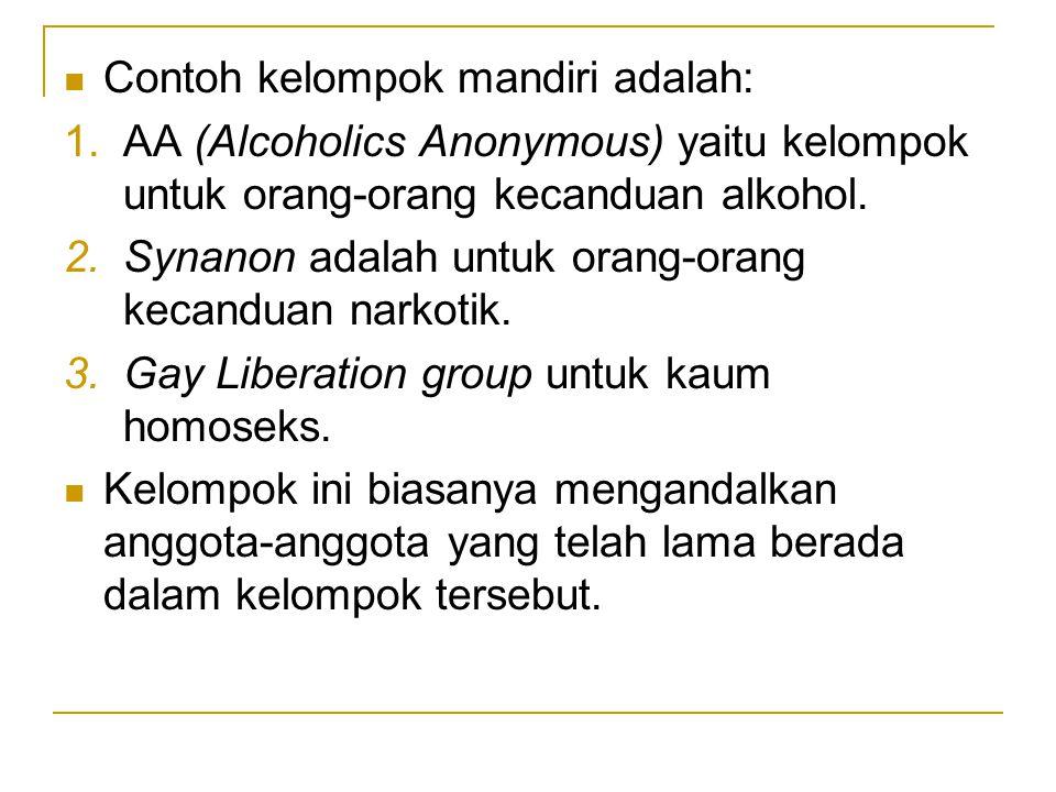 Contoh kelompok mandiri adalah: