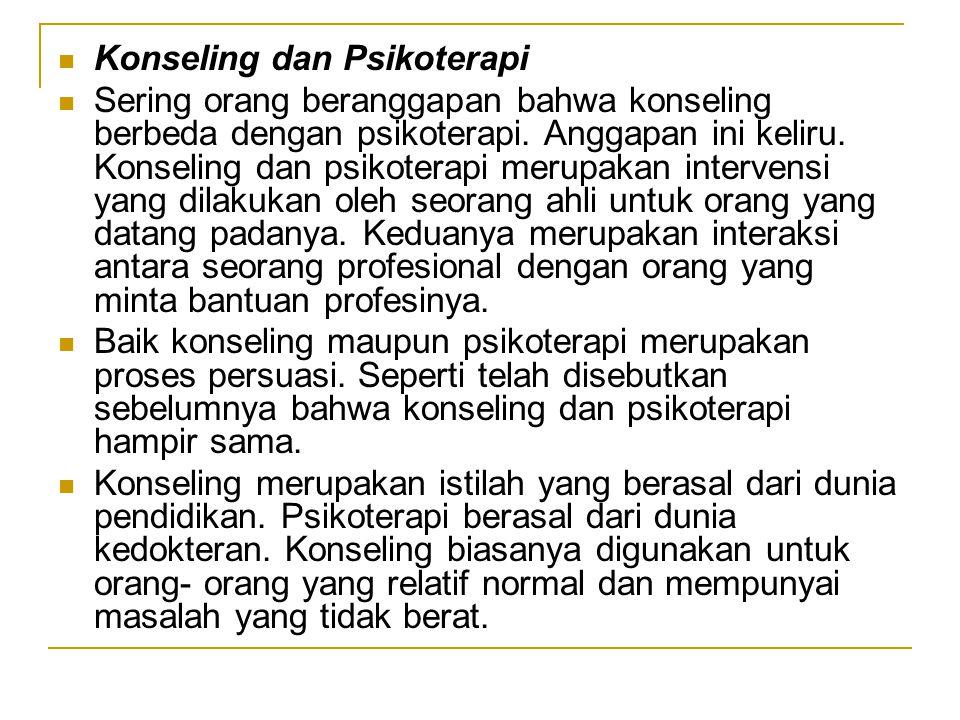 Konseling dan Psikoterapi