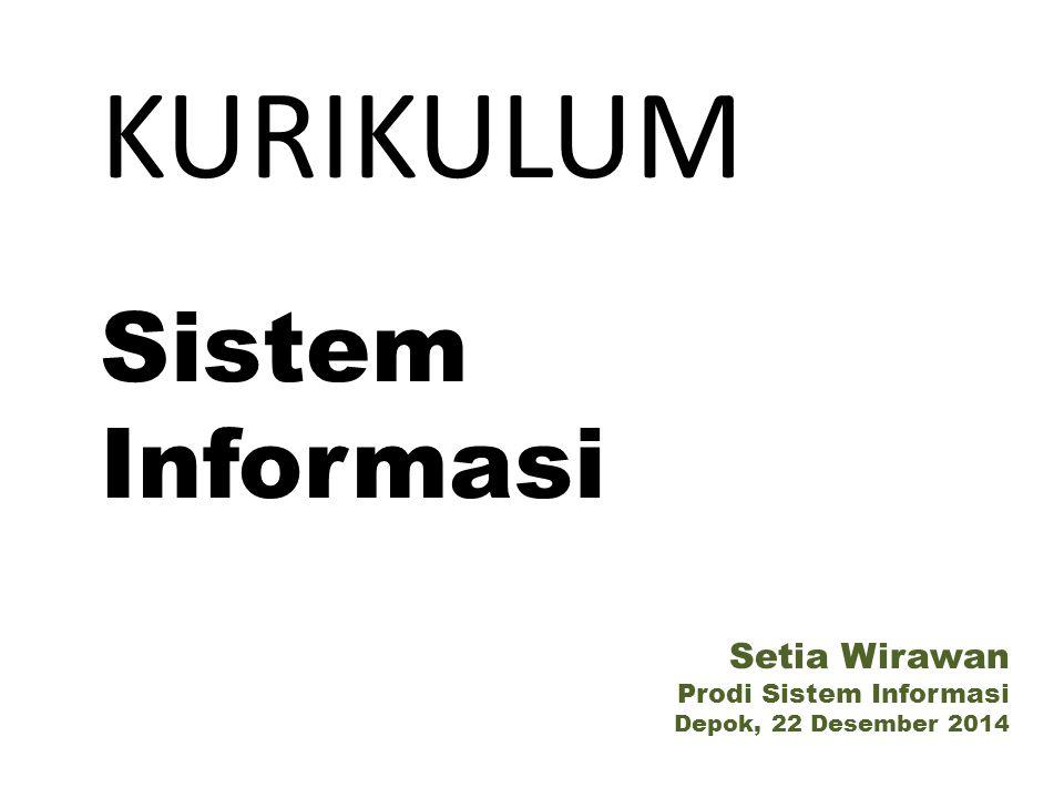KURIKULUM Sistem Informasi