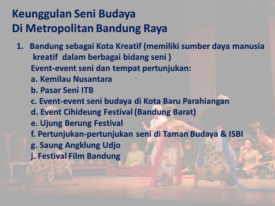 Keunggulan Seni Budaya Di Metropolitan Bandung Raya