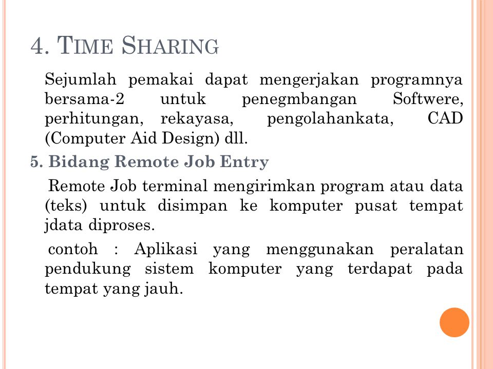 4. Time Sharing
