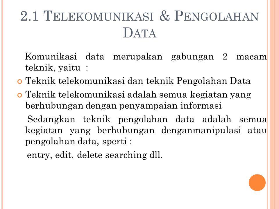 2.1 Telekomunikasi & Pengolahan Data