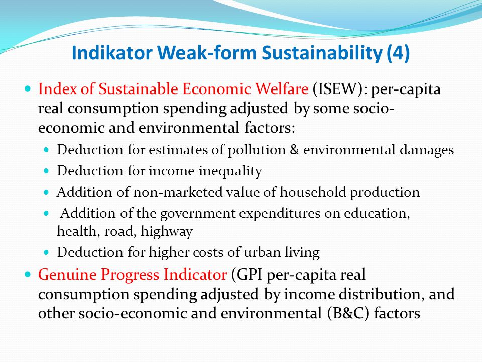 Indikator Weak-form Sustainability (4)