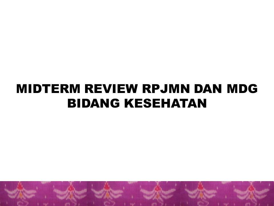 MIDTERM REVIEW RPJMN DAN MDG BIDANG KESEHATAN