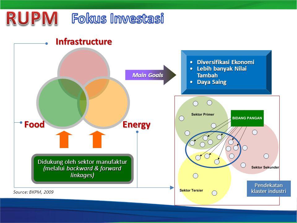 RUPM Fokus Investasi Infrastructure Energy Food Diversifikasi Ekonomi